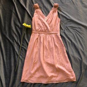 V Neck silk and cotton Banana Republic Dress